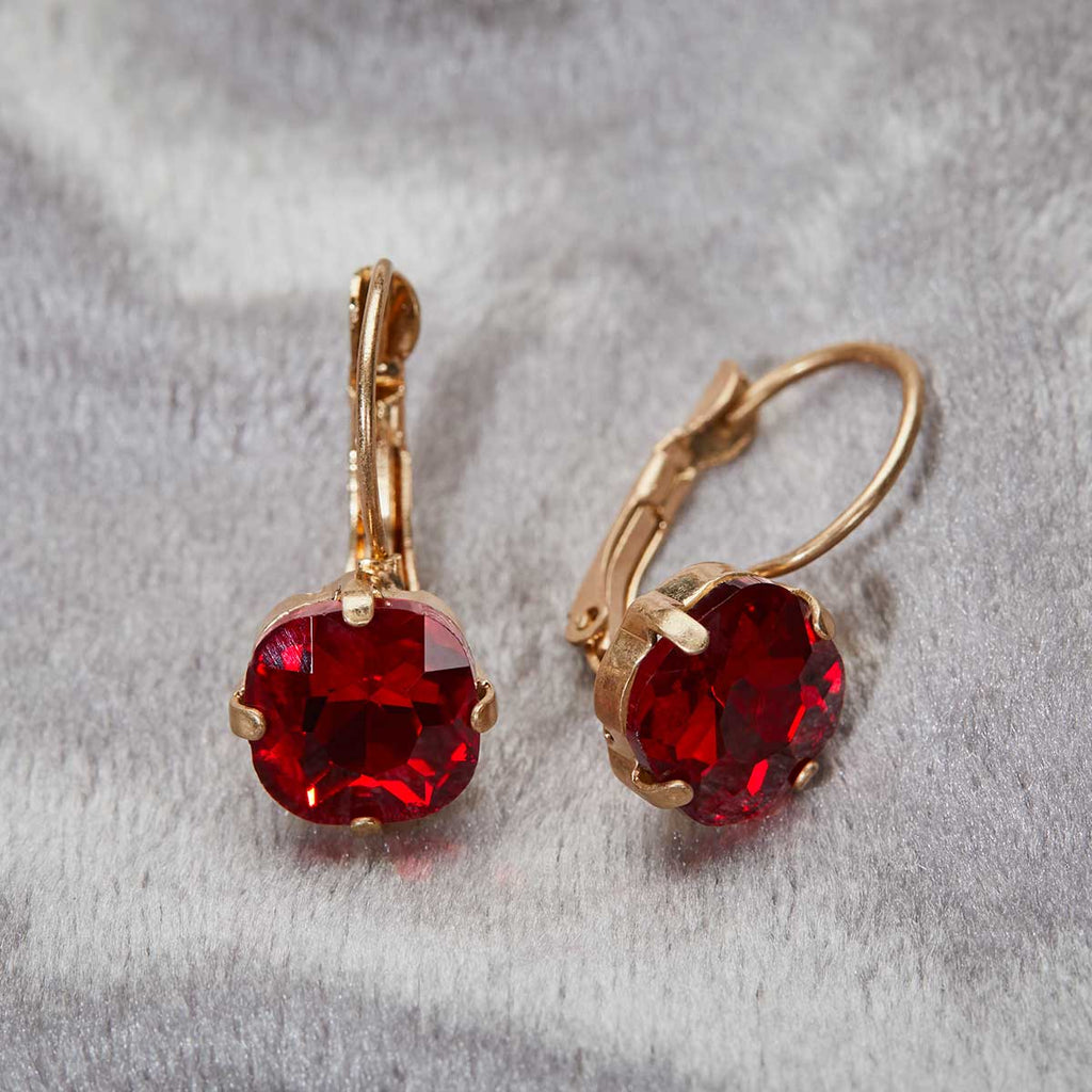 Crystal Cushion Cut Earrings