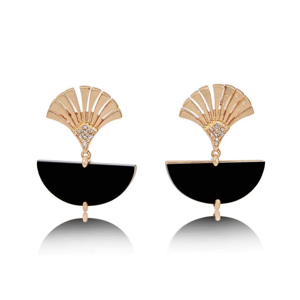 Deco Fan Earring