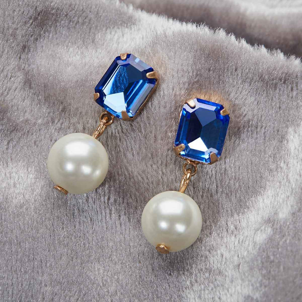 Regal Pearl Stone earrings