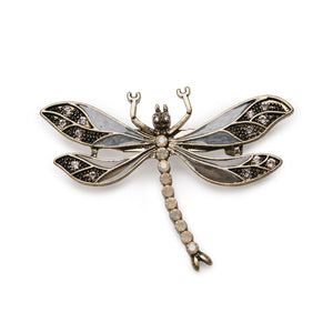 Dragonfly Brooch (Grey)