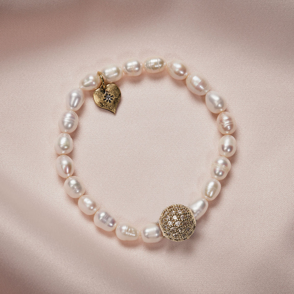Fresh Water Elasticated Pearl Bracelet