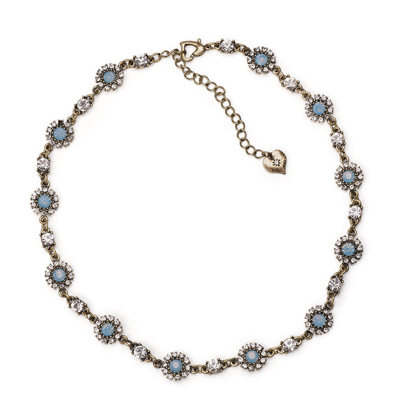 Grace Necklace (Blue Opal)
