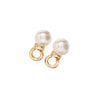 Picture of Silver Hoop Earrings with Removable Cream Pearls Balls