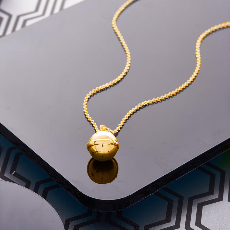 Picture of 18k Gold Plated Opening Ball Pendant