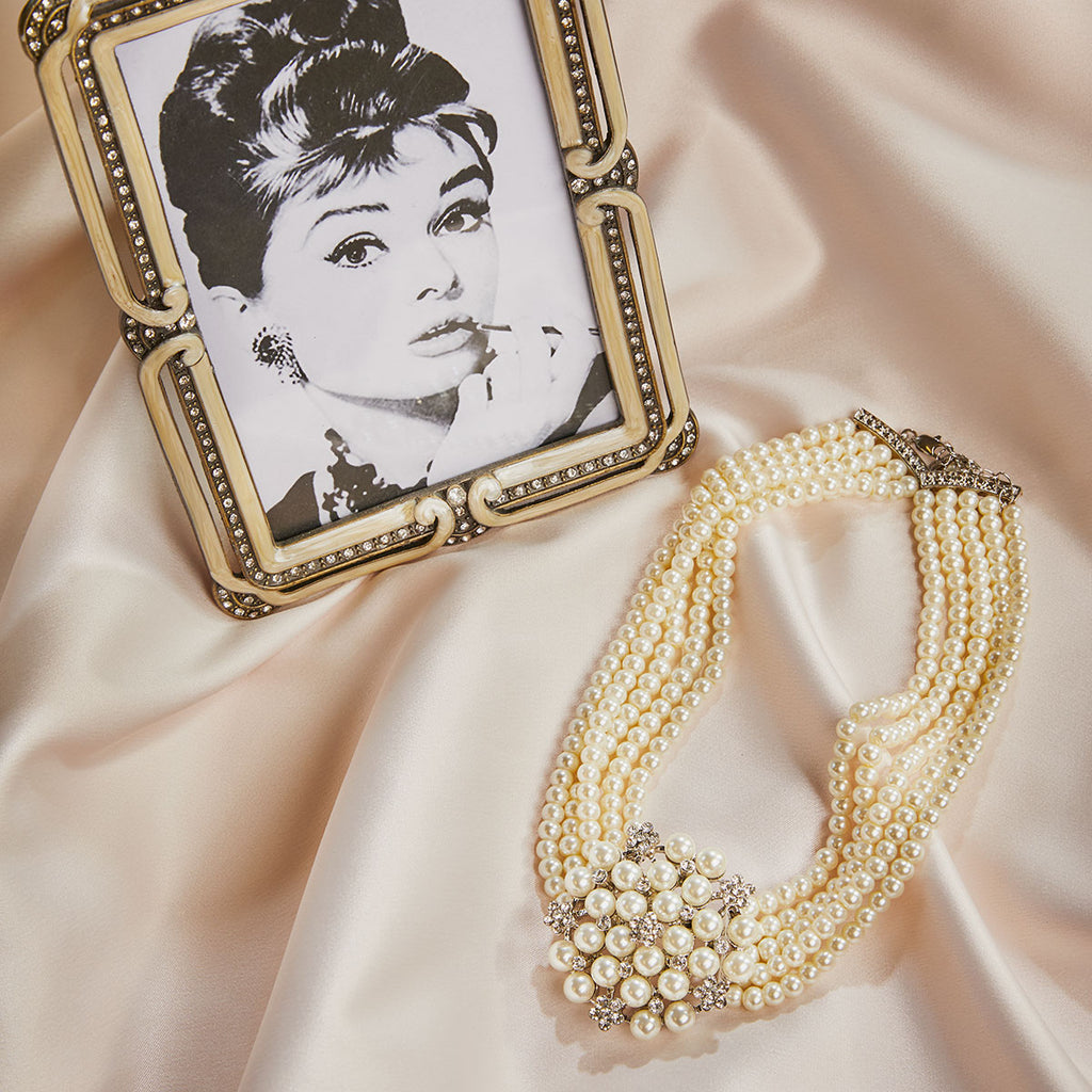 Audrey Necklace & Clip on Earring with FREE Gift Box