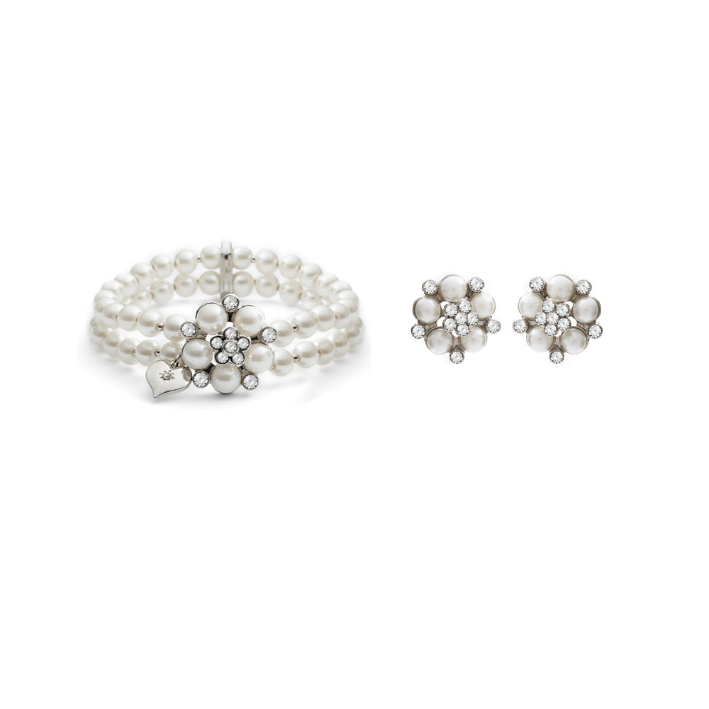 Audrey Pearl Stud Earring & Audrey Pearl Stretch Bracelet