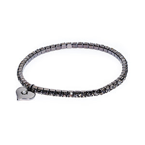 Diamante Stretch Bracelet Gunmetal Plating