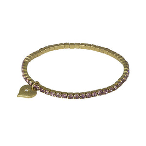 Diamante Stretch Bracelet Brass Plating