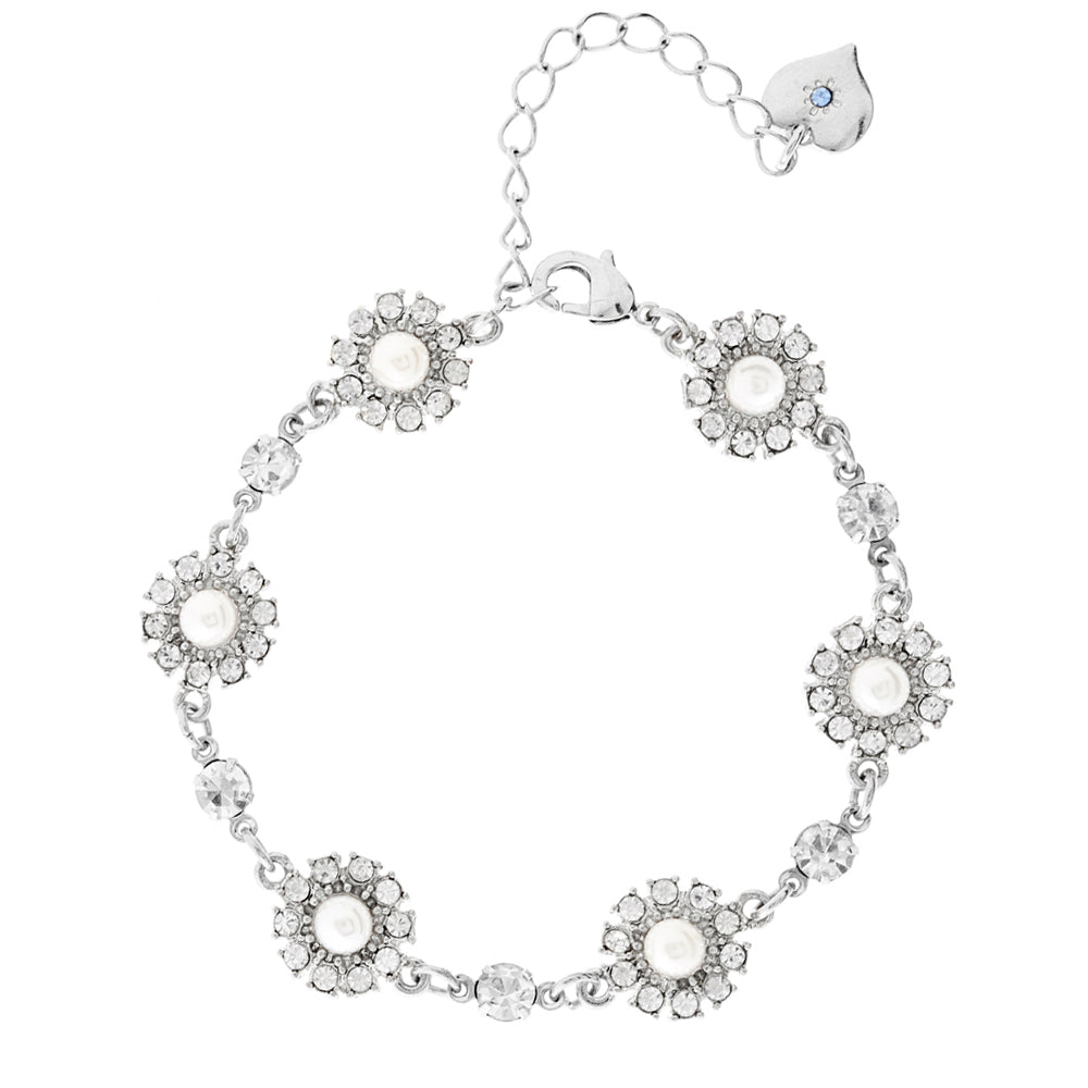 Grace Pearl and Crystal Bracelet