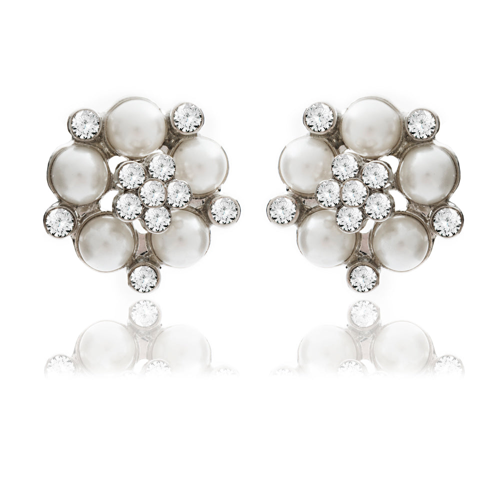 Audrey Hepburn Pearl Stud Earrings (AMAZON WHITE)