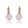 Vintage inspired pink cushion cut style drop earring is suited for all occasions and outfit. Its handmade, hypoallergic and nickel free