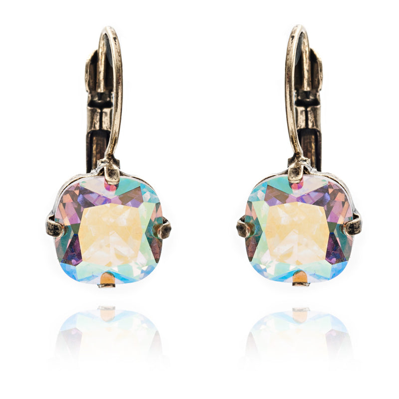 Vintage inspired crystal cushion cut style drop earring is suited for all occasions and outfit. Its handmade, hypoallergic and nickel free