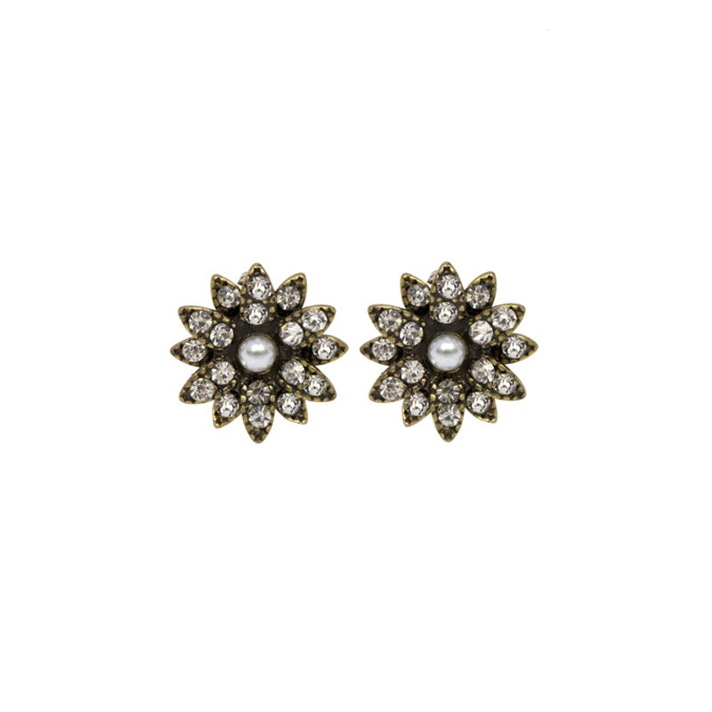 Mini Aster Flower Stud Earrings