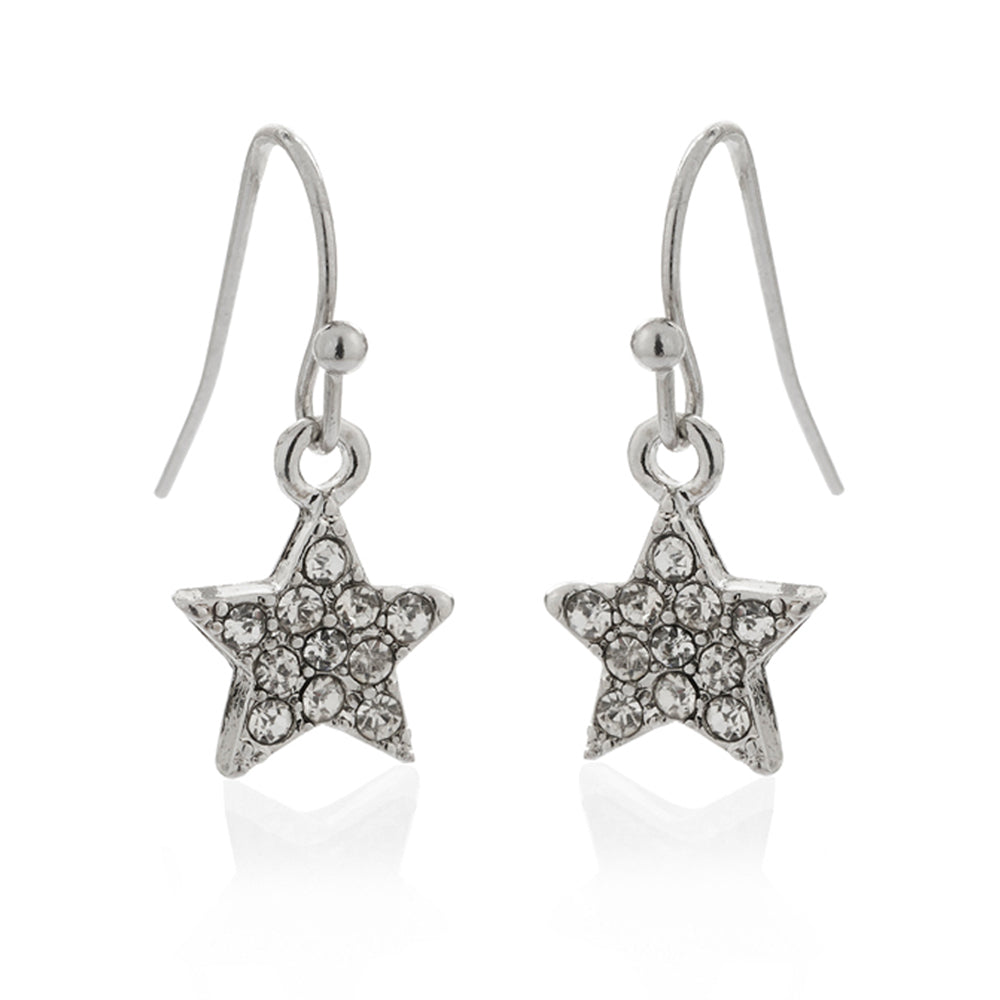 Diamante Star Earrings