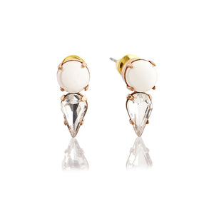 Pearl and Crystal Teardrop Earring