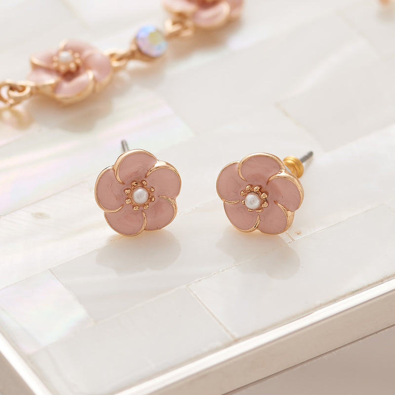 Small Rose Stud Earrings