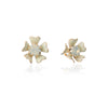 Pearlised Petal Flower Earrings