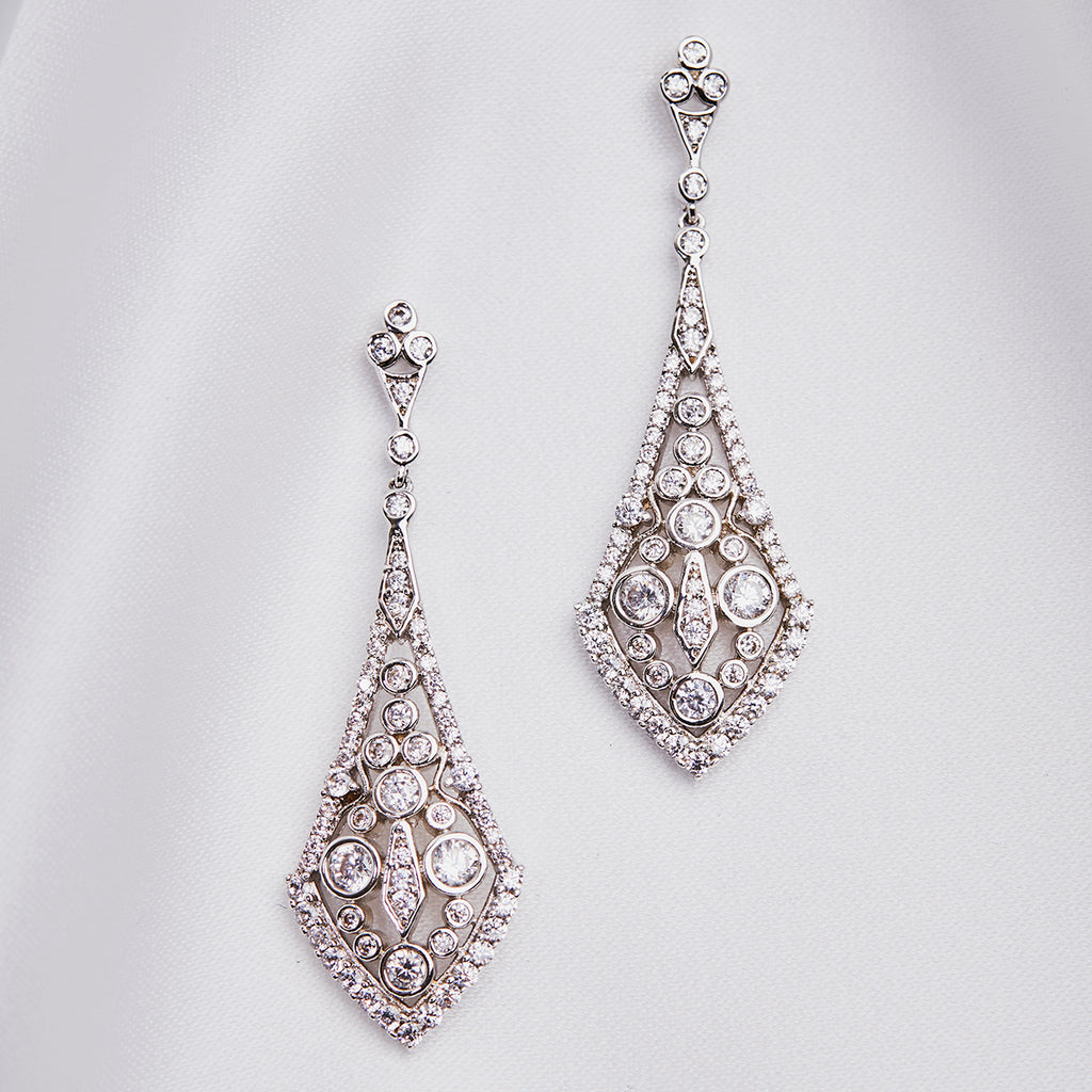 Deco Long Drop earring