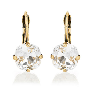 Vintage inspired cushion cut style crystal drop earring is suited for all occasions and outfit. Its handmade, hypoallergic and nickel free