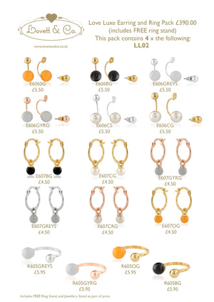 Picture of love luxe Earring and Ring Starter Pack