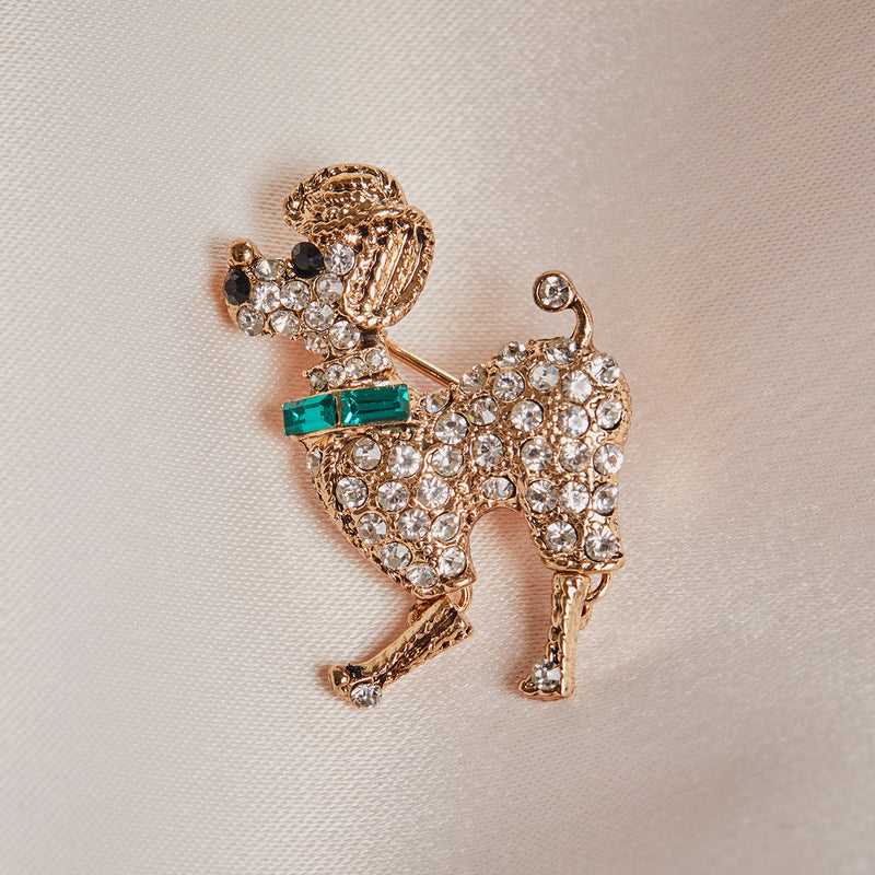 50s style Poodle Brooch