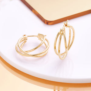 Triple Layer Hoop Earring