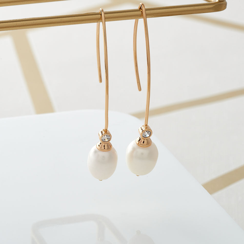 Cultured Pearl Drop Earring