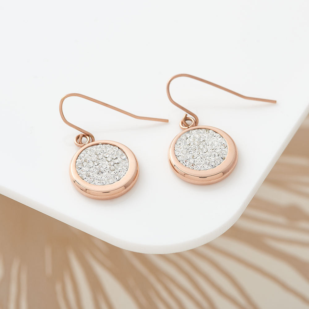 Disc Pave Earring