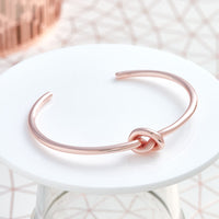 Single Row Knot Bangle
