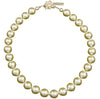 Pearl Necklace with Swarovski Crystal Flower in Cream