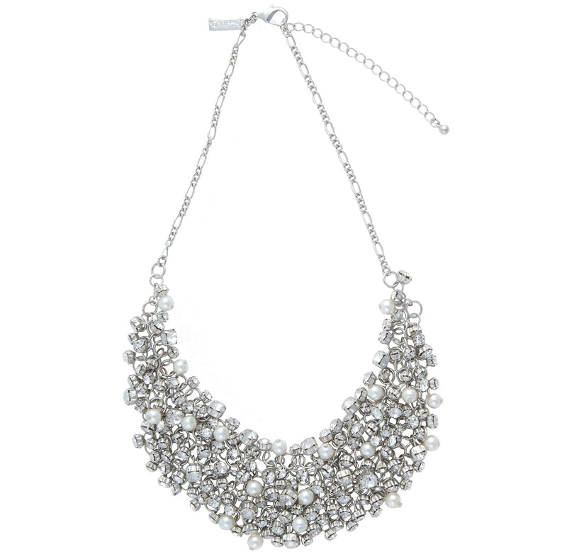 Diamante & Pearl Necklace