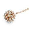 Pearl ball long necklace