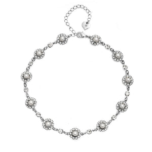 Grace Pearl and Crystal Necklace