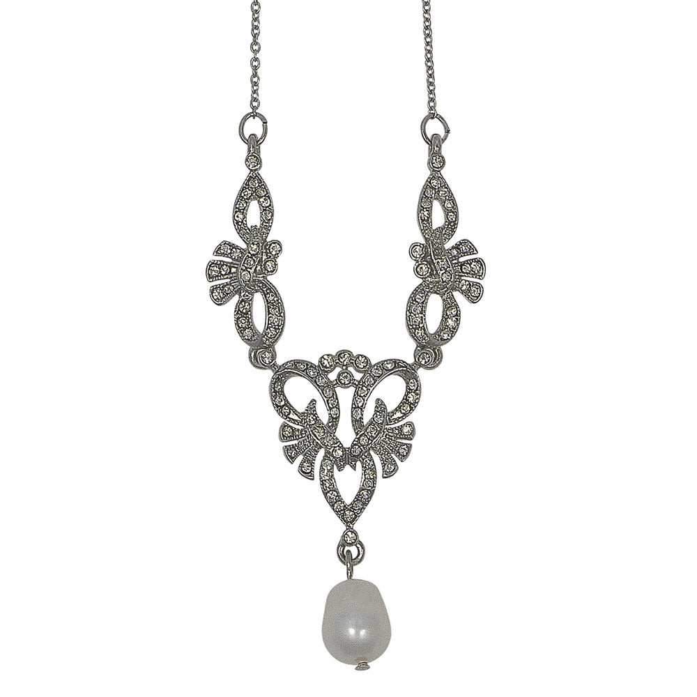 Picture of Lula Freshwater Pearl Drop Necklace (Silver)