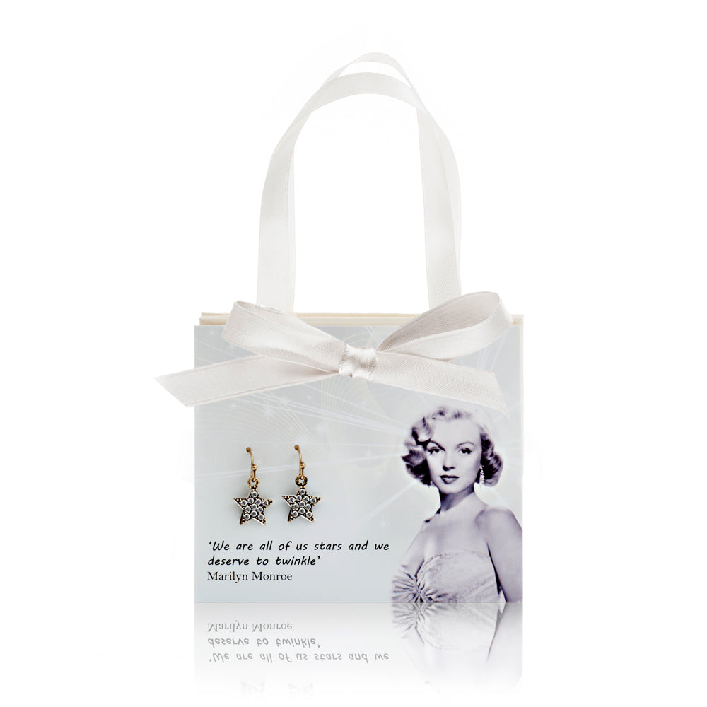 Picture of Marilyn Monroe Gift Card With Diamante Star Earrings