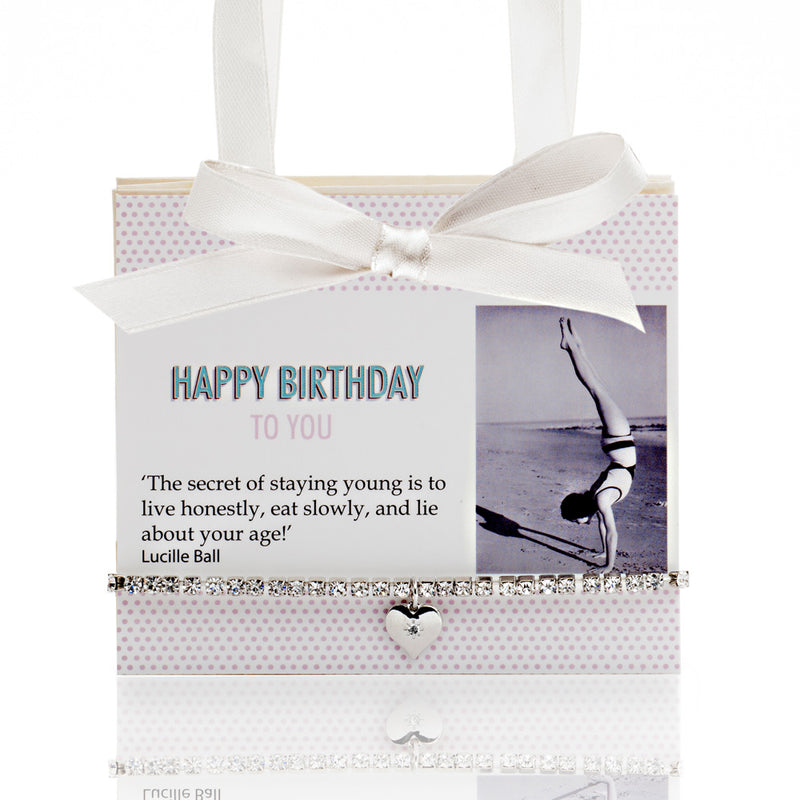 Picture of Happy Birthday Postcard With Diamante Bracelet 'The Secret To A Good Life..'