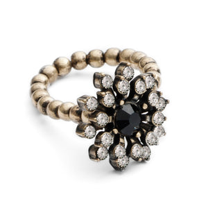 Baroque Starburst Ring (Black)
