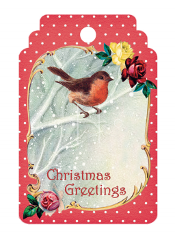 Christmas Robin Gift Tag PACK OF 10