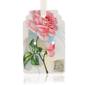 Pink Rose Gift Tag Pack of 10