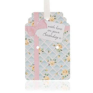 Rose Trellis Birthday Gift Tag Pack of 10