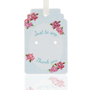 Thank You 50s Rose Gift Tag Pack of 10