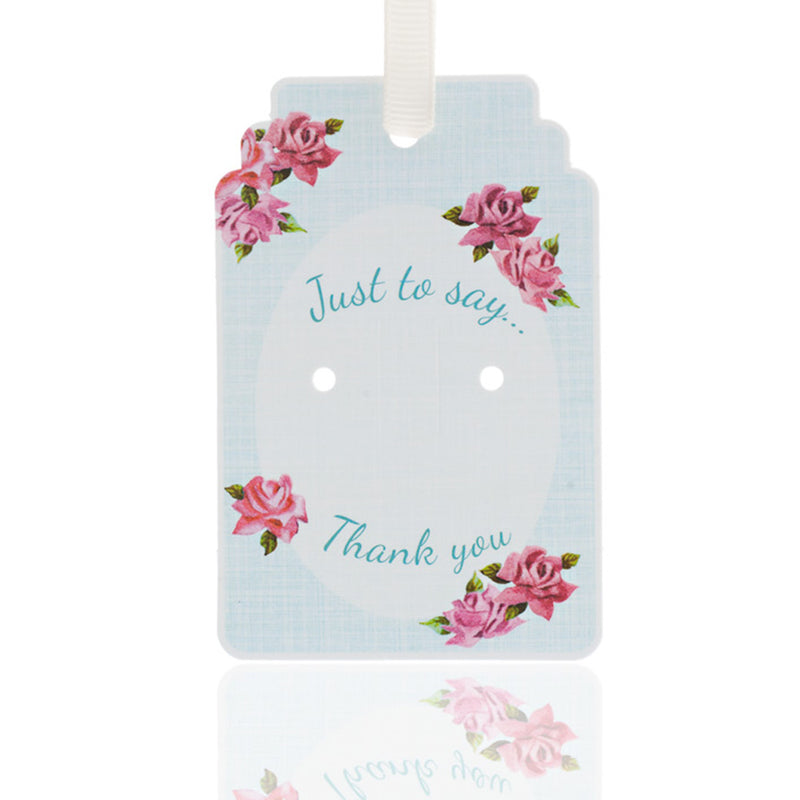 Picture of Thank You 50s Rose Gift Tag Pack of 10