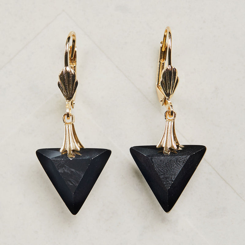 Illustration of 1920s Triangle Earrings by Lovett and Co
