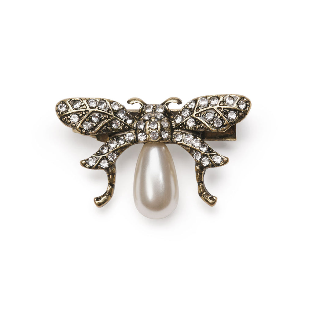 Vintage Bumble Bee Brooch with Pearl body by Lovett and Co