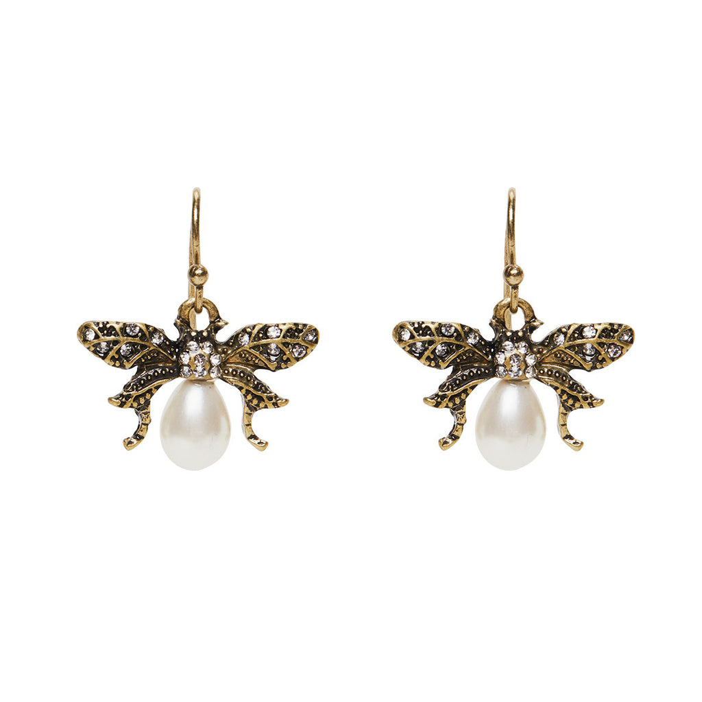 Vintage inspired bumble bee earrings by Lovett and Co