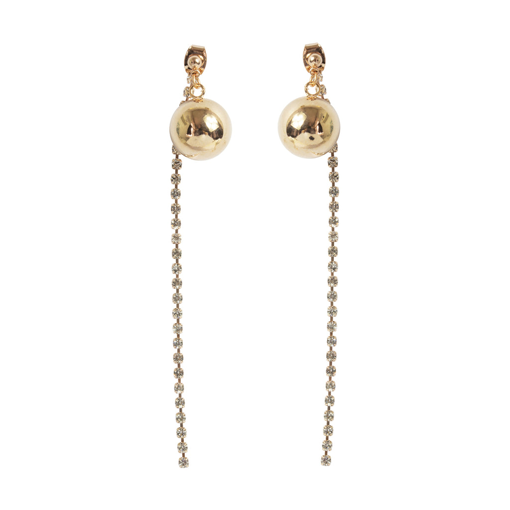 Ball & Diamante Earring