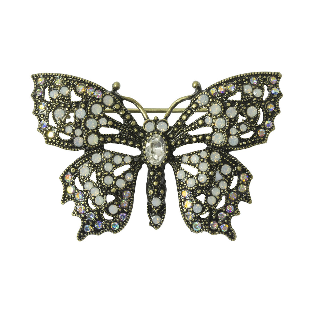Butterfly Crystal Brooch