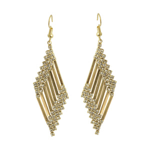 Image of vintage style 1920 inspired long drop crystal earrings