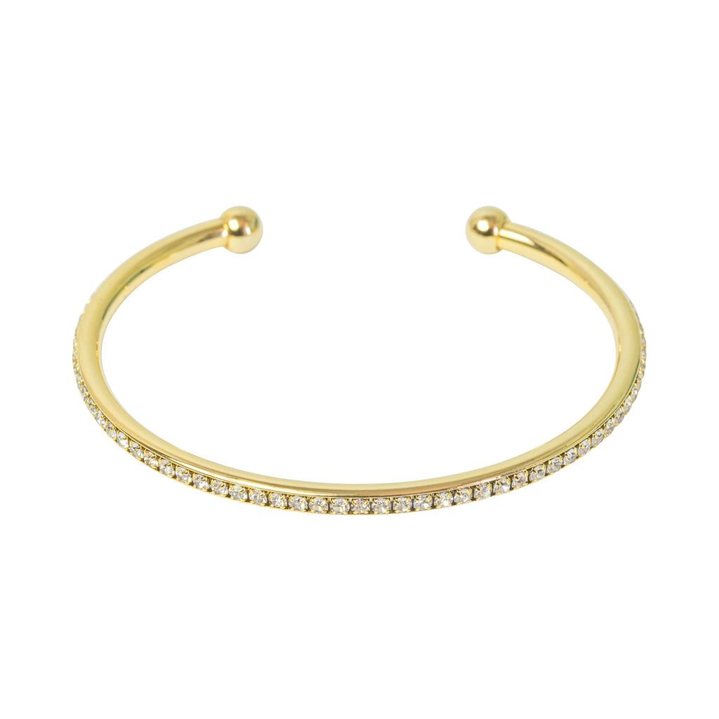 Picture of Crystal Edged Open Bangle - Gold