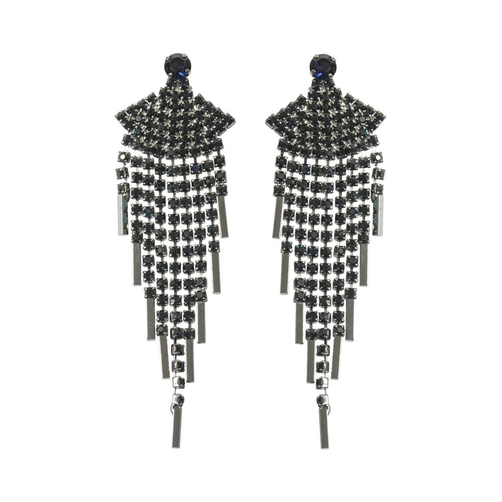 Deco Long Fan Earrings